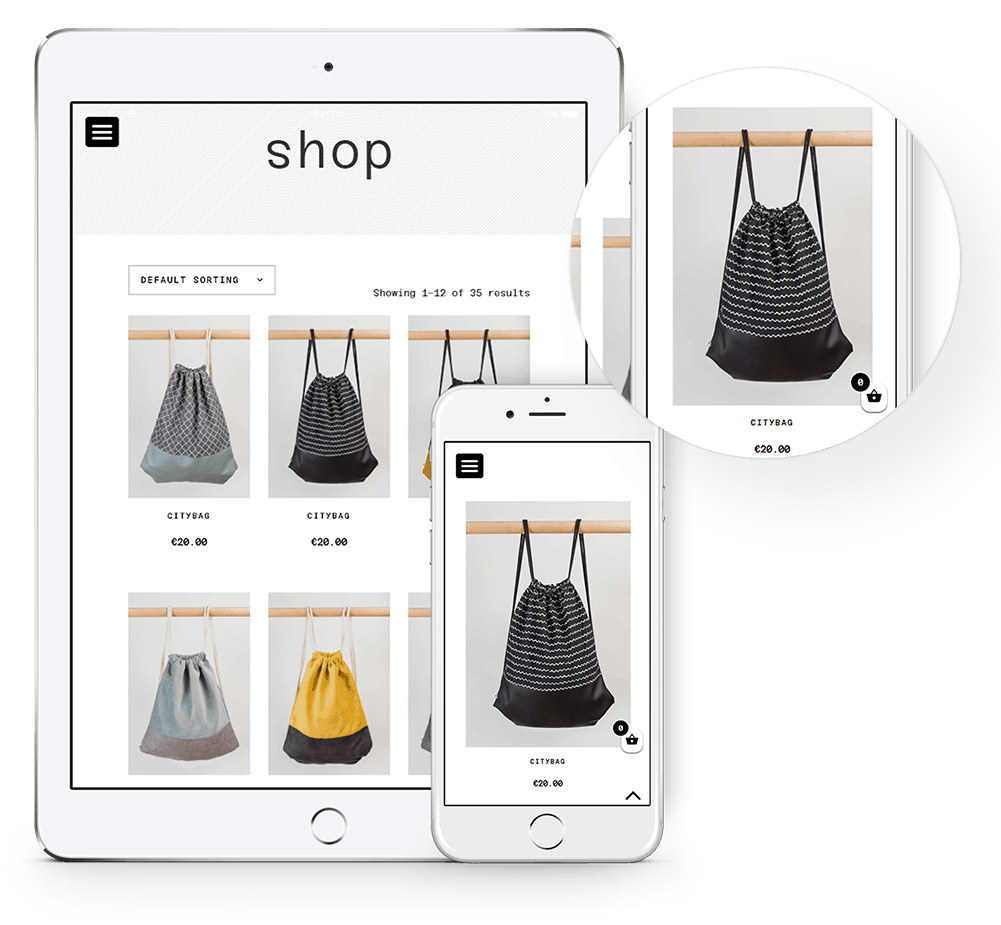 Ecommerce store responsive showcase